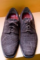 ぞう革の革靴.